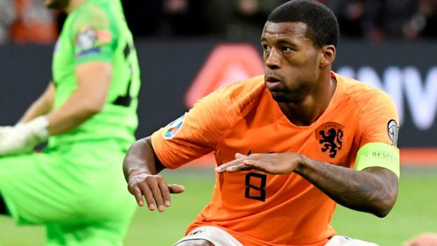 Northern Ireland Netherlands 5-0 Estonia: Wijnaldum hat-trick as Dutch thrash Estonia