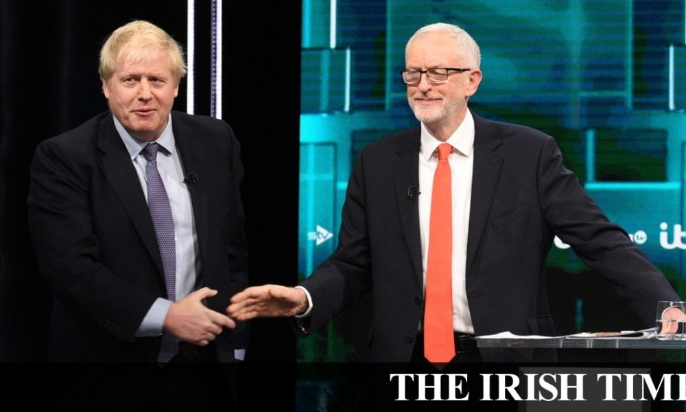 Irish backstop – Denis Staunton's UK election diary – Johnson v Corbyn debate ends in a draw