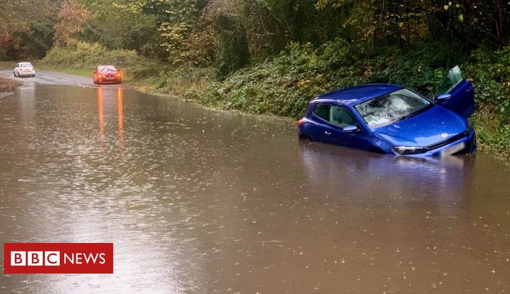 Northern Ireland NI flooding: Woman, 89, rescued from home