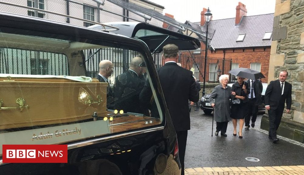 Northern Ireland Funeral of Derry and Raphoe Bishop Dr James Mehaffey takes place